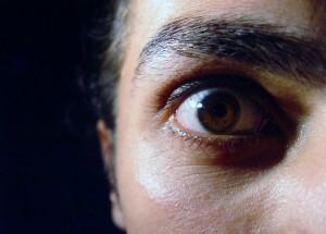 fear in eye